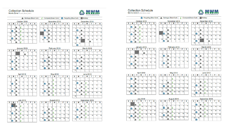 2019 Garbage Recycling Amp Compost Collection Schedule